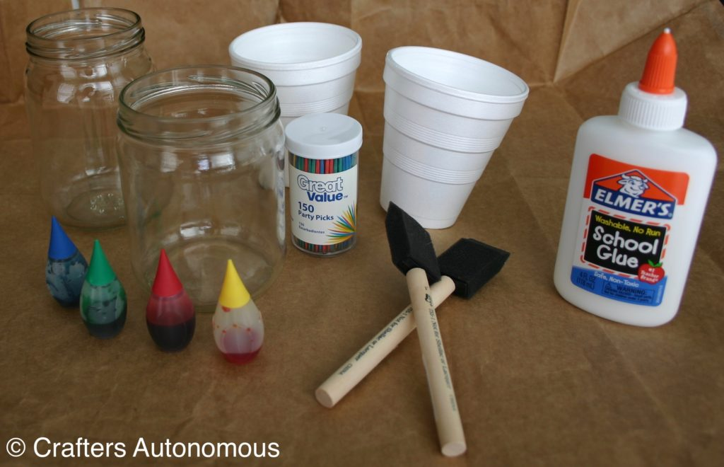 Easy Tutorial: Stained Glass Jars Using Glue and Food Dye - Crafters ...